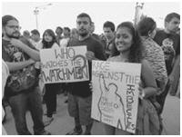 Protesters in Delhi 1