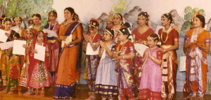 Jaya Mani's class in the 1970s at the S. V. Temple.