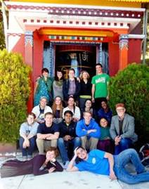 Rohan with his whole group at a Buddhist Temple