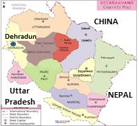 Uttarnchal Map