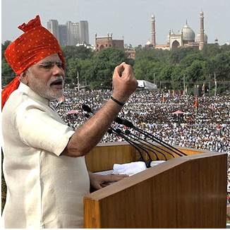 Modi ar Red Fort
